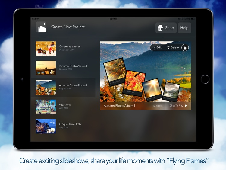 Flying Frames - Photo Album And Slideshow Editor screenshot-3