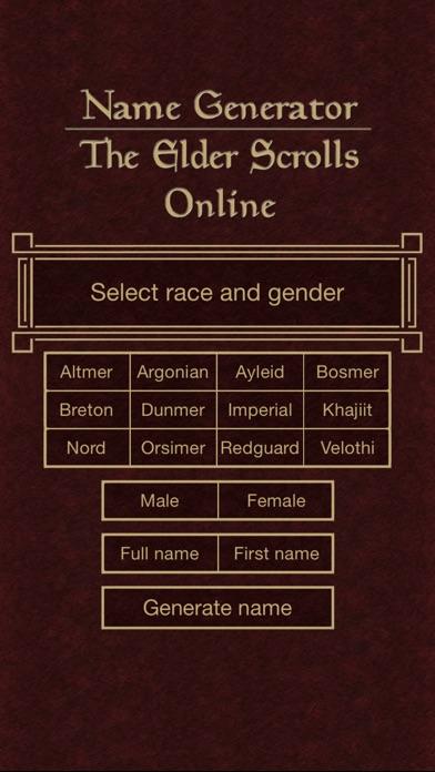 name generator for the elder scrolls online by alexander eriksson