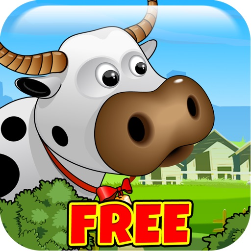 Farm Fun Frenzy Free - Help The Cow Hide From The Evil Cloud! icon