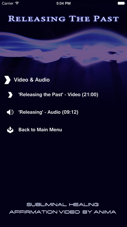 Releasing the Past - Subliminal Affirmation Video App by Ali Calderwood and Anima