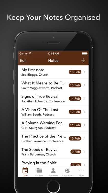 ChurchNotes - Write Notes From Church Sermons and Bible Studies or Podcasts