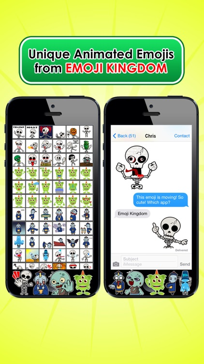 Emoji Kingdom 13  Free Skull Halloween Emoticon Animated for iOS 8