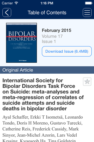 Screenshot of Bipolar Disorders