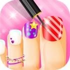 красивые ногти 3 салон красоты бесплатная игра: цветы платье icon