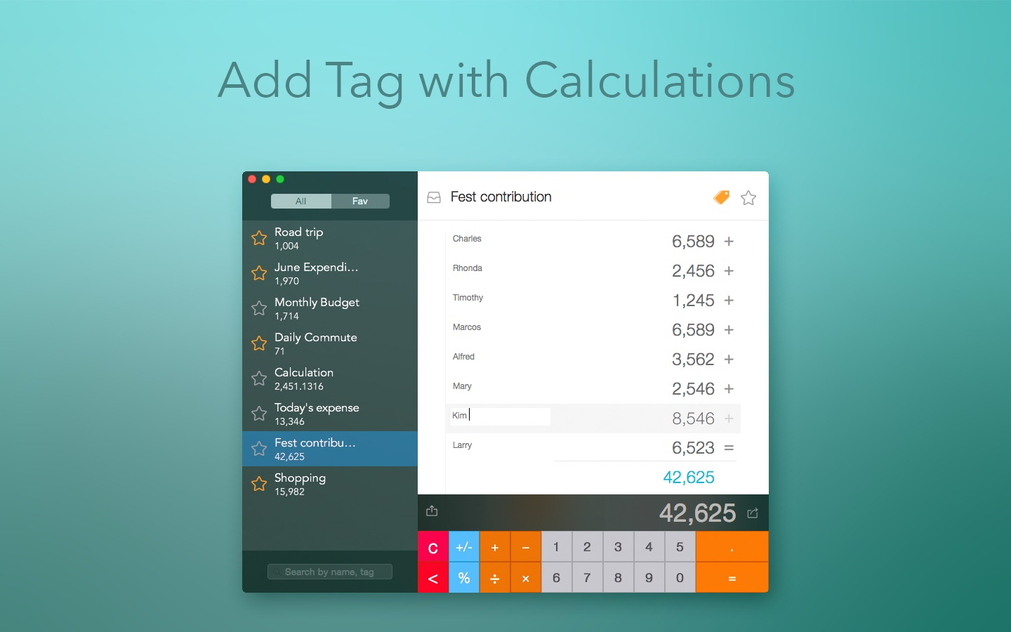 Visual Calculator on the MacAppStore