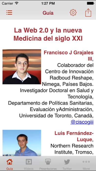 Salud 2.0 entre profesionales screenshot two
