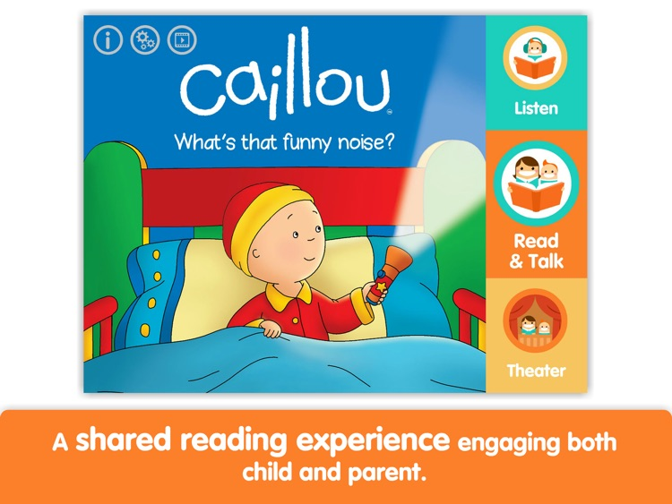 Caillou: What's That Funny Noise? by i Read With screenshot-0