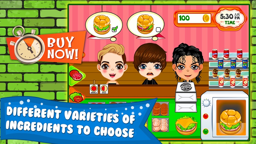 Burger Cooking Restaurant Maker Jam - the mama king food shop in a jolly diner story dash game! hack tool