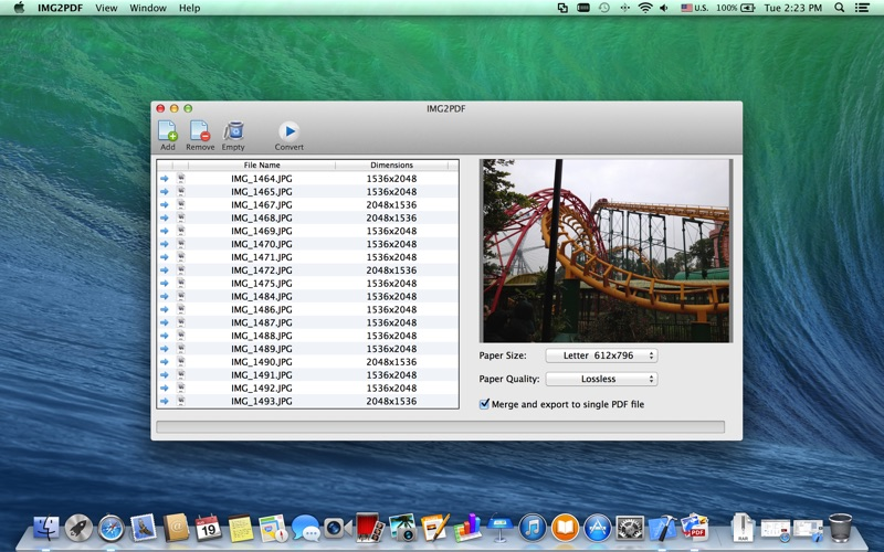 JPG to PDF - a Image to PDF Converter скриншот программы 1