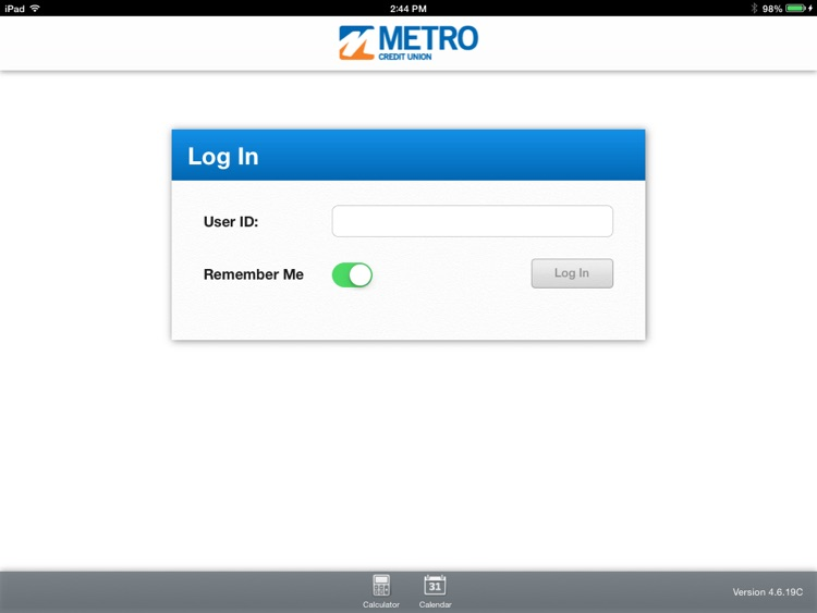 Metro Credit Union for iPad