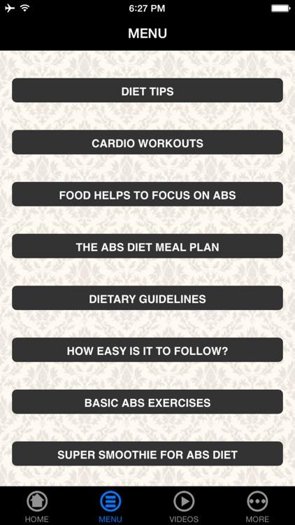 Abs Diet - Beginner's Guide screenshot-3