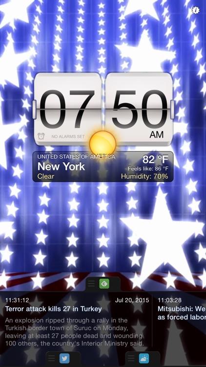 Night Stand for iPhone - Alarm Clock, Weather & Photo Slideshow screenshot-3