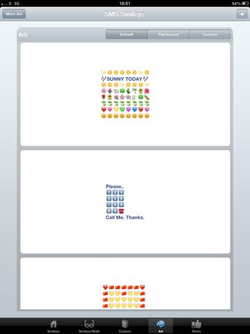 SMS Smileys ipad ekran görüntüleri