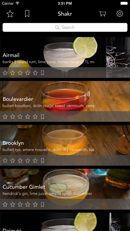 Shakr - Curated Cocktail Guide