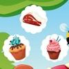 アクティブ! パン屋でのキャンデーを持つ子どものための学習ゲーム