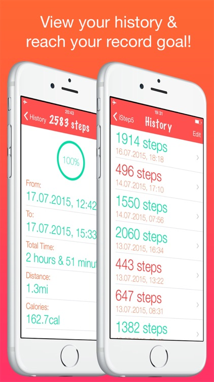 iStep5 - Pedometer - Daily Activity - Steps, Distance, Calories counter