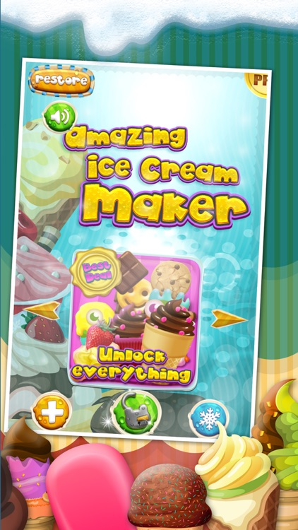 A Amazing Ice Cream Maker Game - Create Cones, Sundaes & Sweet Icy Sandwiches Shop