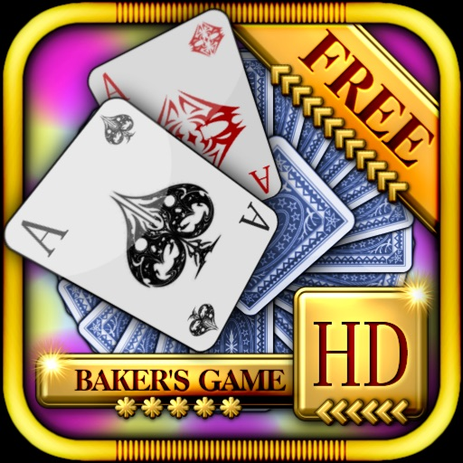 Baker's Game Solitaire HD Free - The Classic Full Deluxe Card Games for iPad & iPhone icon