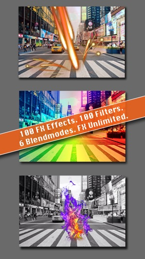 TwoPics FX - ultimate photoblend editor to union two photo, add effect elements and color filter Screenshot