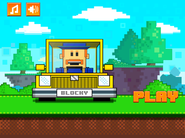 Blocky Offroad Racing, game for IOS