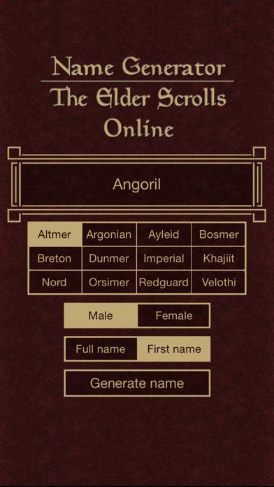 Name Generator for The Elder Scrolls Onlineのおすすめ画像3