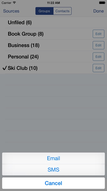 Speed Names: Contacts, Groups, Email & SMS screenshot-3