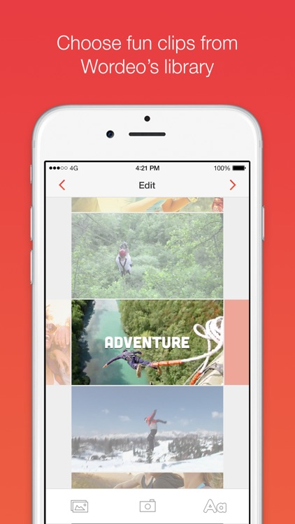 Wordeo: Upload & edit videos to create & share e-cards with your friends screenshot-3
