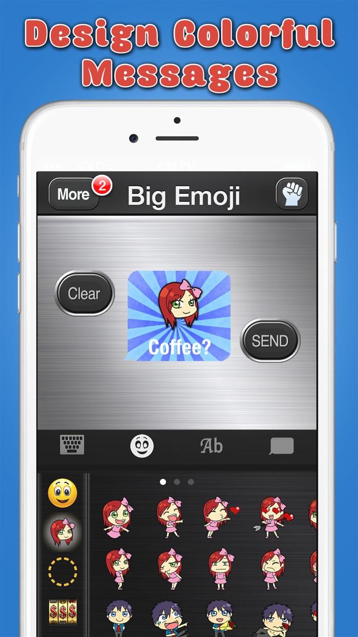 Big Emoji Keyboard - Stickers for Messages, Texting & Facebook Screenshot