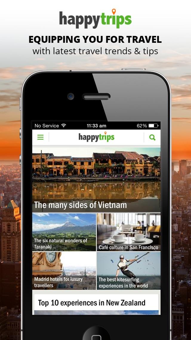 HappyTrips Travel Guide Screenshot