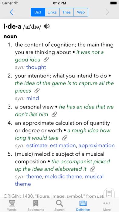 WordBook Dictionary screenshot two