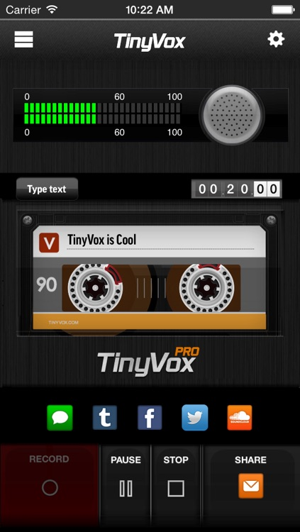 TinyVox Pro • voice memos for the win!