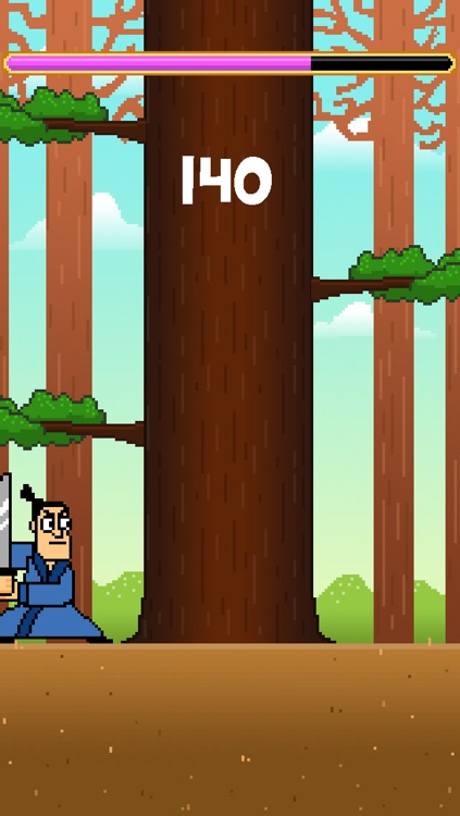 Samurai Timber Chop - Slice and Cut the Tree, Avoid the Falling Branches screenshot-4