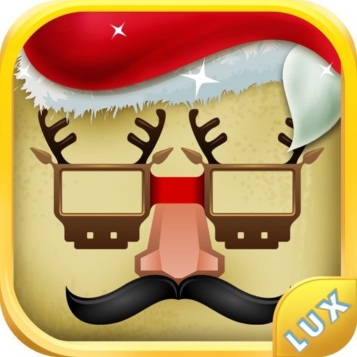 Santa Claus Photo Booth - Festive Merry Christmas Luxury Edition