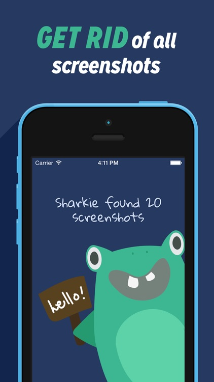 Sharkie - clean up camera roll and delete screenshots