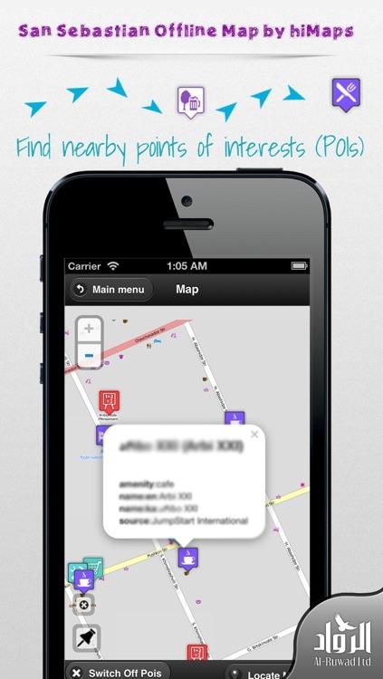 San Sebastian Offline Map by hiMaps
