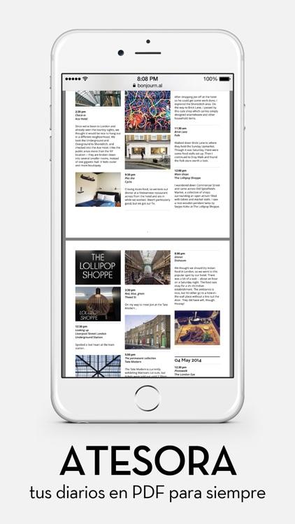 Bonjournal - A minimalist travel journal/diary screenshot-3