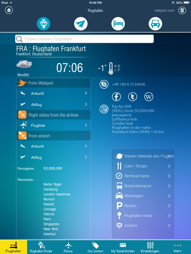 flughafen flug tracker frankfurt m nchen flugstatus doppelte berpr fung radar im app store. Black Bedroom Furniture Sets. Home Design Ideas