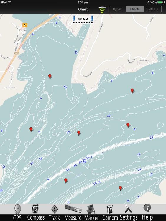 Guntersville Lake Nautical charts pro screenshot-3