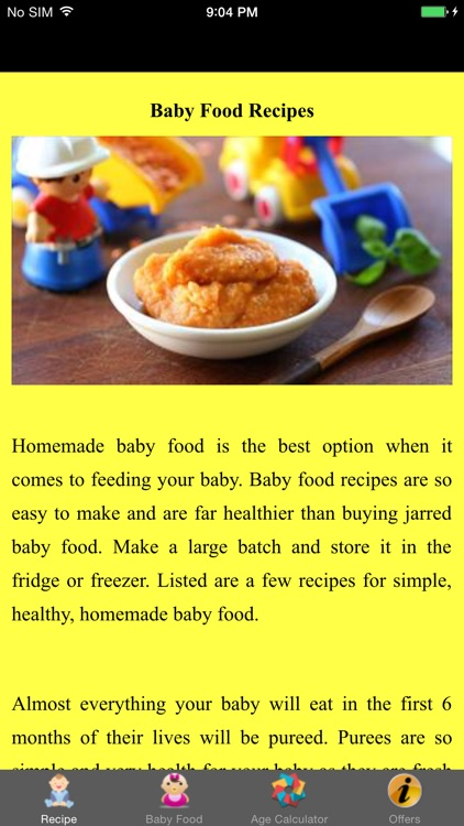 Baby Food Recipes - Pure and Simple