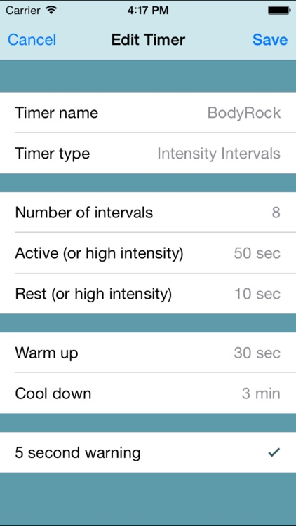 Fitness Interval Timer screenshot-4