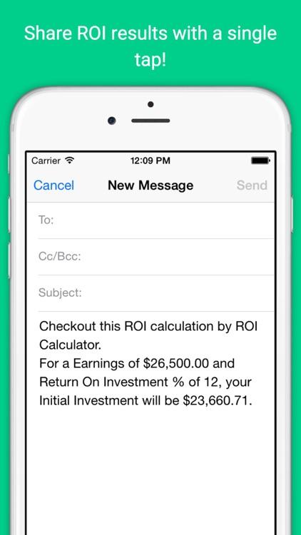 Return On Investment Calculator screenshot-3