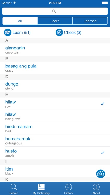 Filipino <> English Dictionary + Vocabulary trainer by Ilya Mukhortov