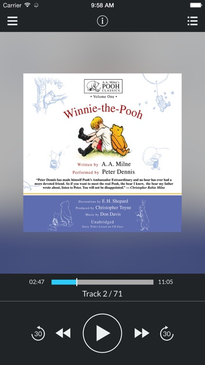 Winnie-the-Pooh (by A. A. Milne and Christopher Toyne) (UNABRIDGED AUDIOBOOK)