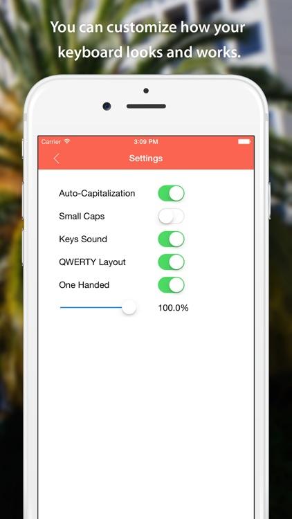 HandyKeys — One Handed Keyboard for iPhone and Split Keyboard for iPad screenshot-4