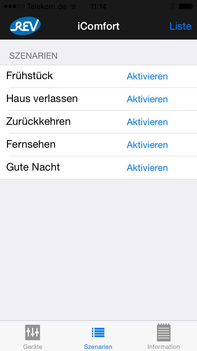 REV iComfort screenshot two