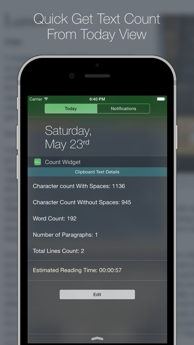 Word Count - With Today Widget and Action Extension   App Price Drops