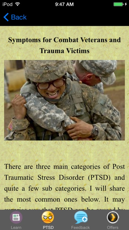 PTSD Symptoms & Suggested Treatment