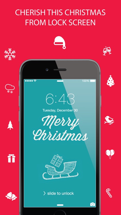 Christmas Wallpaper ® - Beautiful HD Xmas, santa claus, ornaments, design, themes, frames, shelves & backgrounds screenshot-0