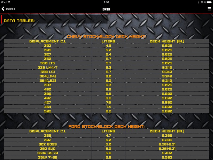 "Engine ToolBox Calculator ""for iPad"" screenshot-4"