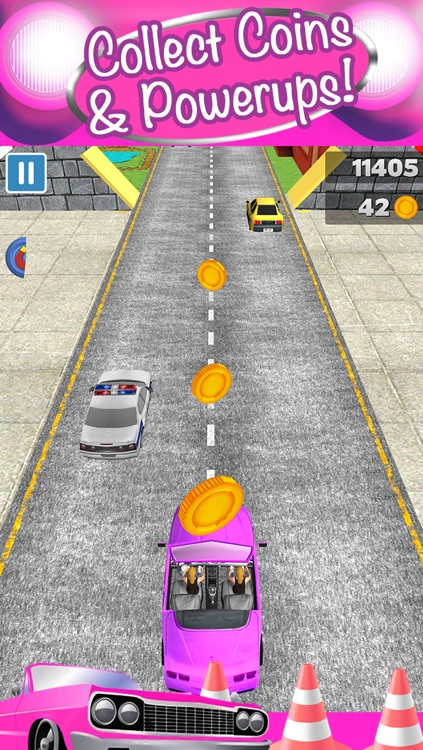 3D Girl Convertible Car Racing Game With Cute Girly Cars And Fun Race Games FREE